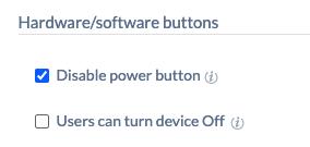 Disabling power button