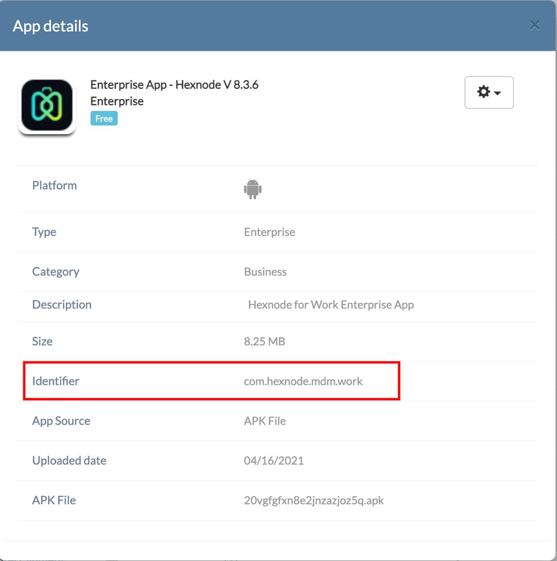 Android APK identifier