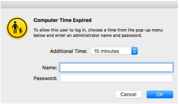 time limit expiry message
