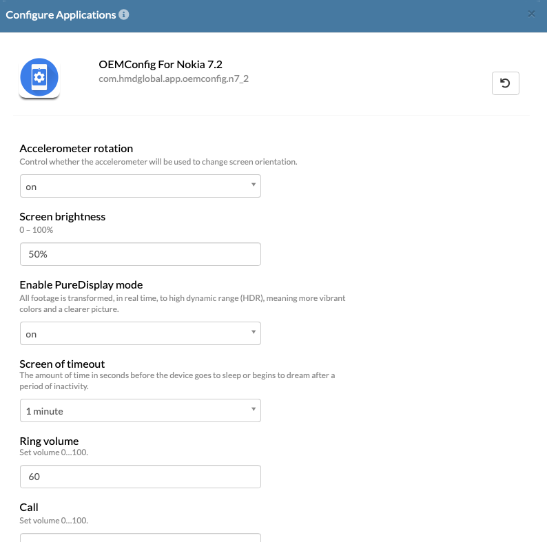 OEM-specific app configuration for Nokia devices