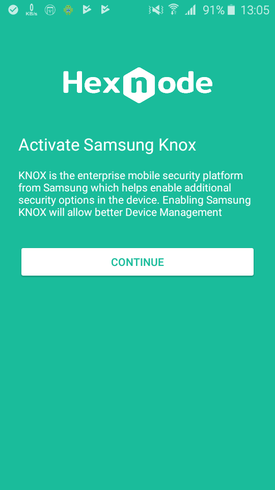 Samsung SAFE activation
