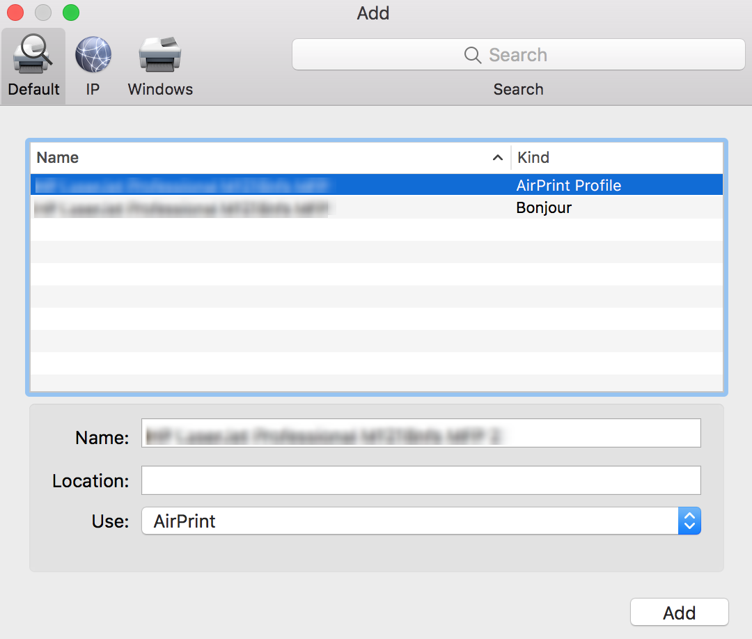 Add AirPrint Printers to Mac devices using Hexnode MDM - Add Printers