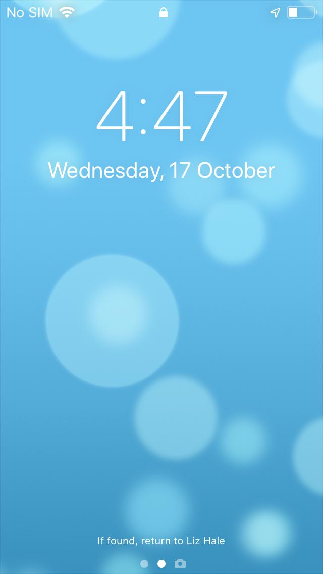 set lock screen message on iOS device using Hexnode MDM