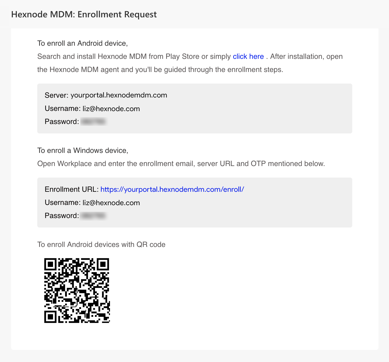 How to enroll Android mobile devices in Hexnode MDM - Help