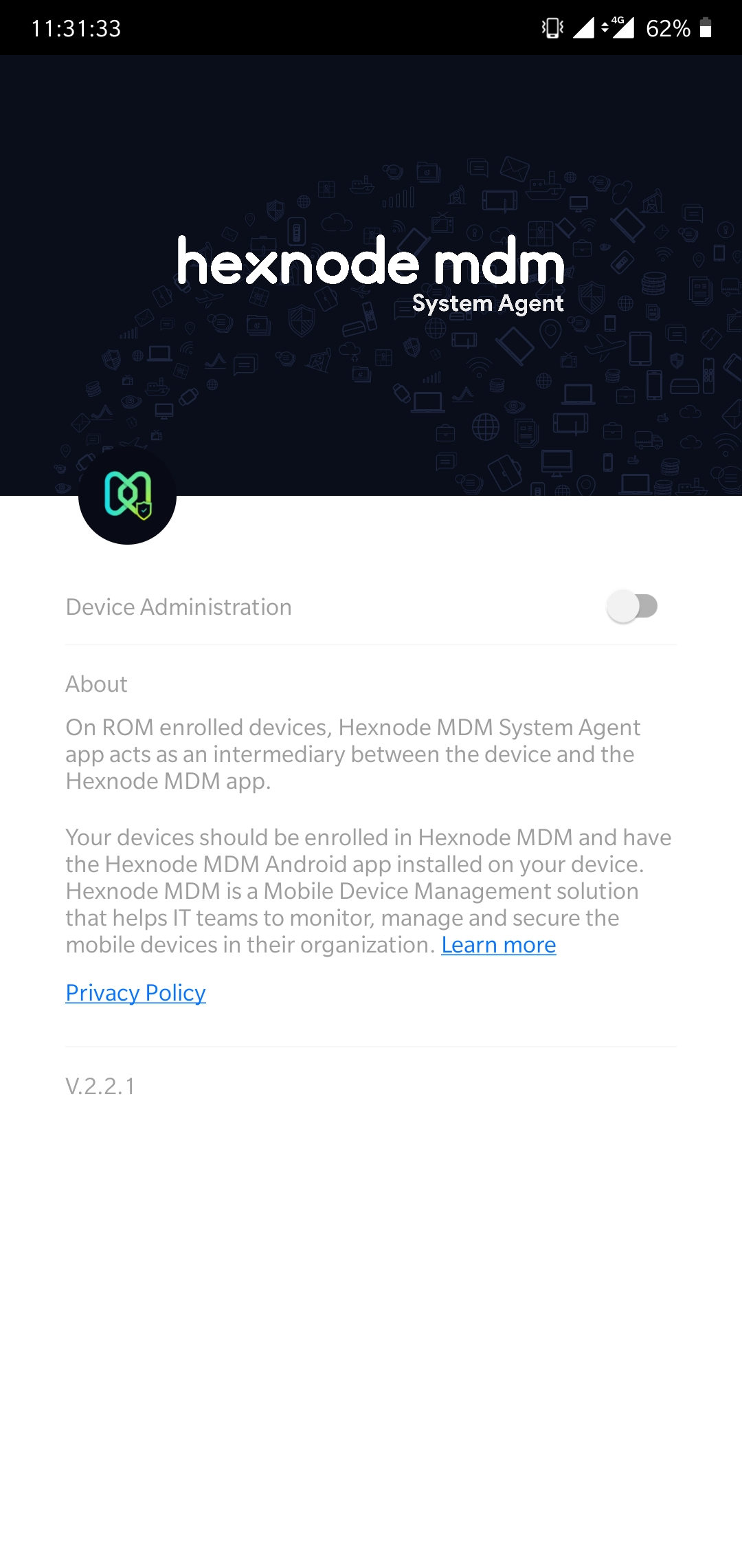 System Agent App
