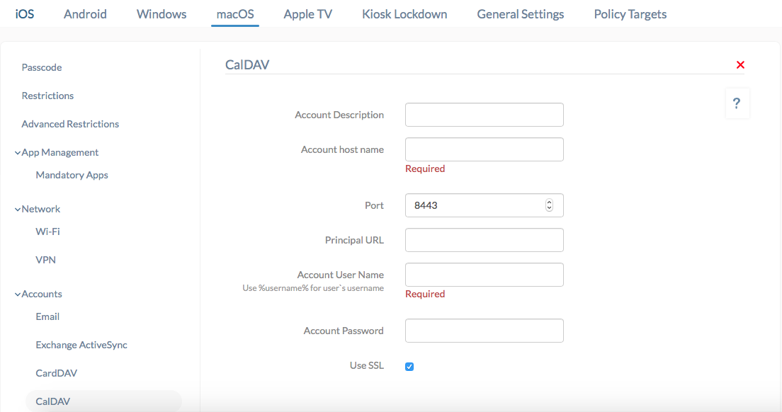 How to Configure CalDAV on macOS using Hexnode MDM?