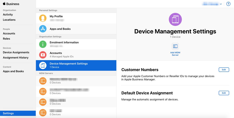 Integration of Apple DEP and MDM