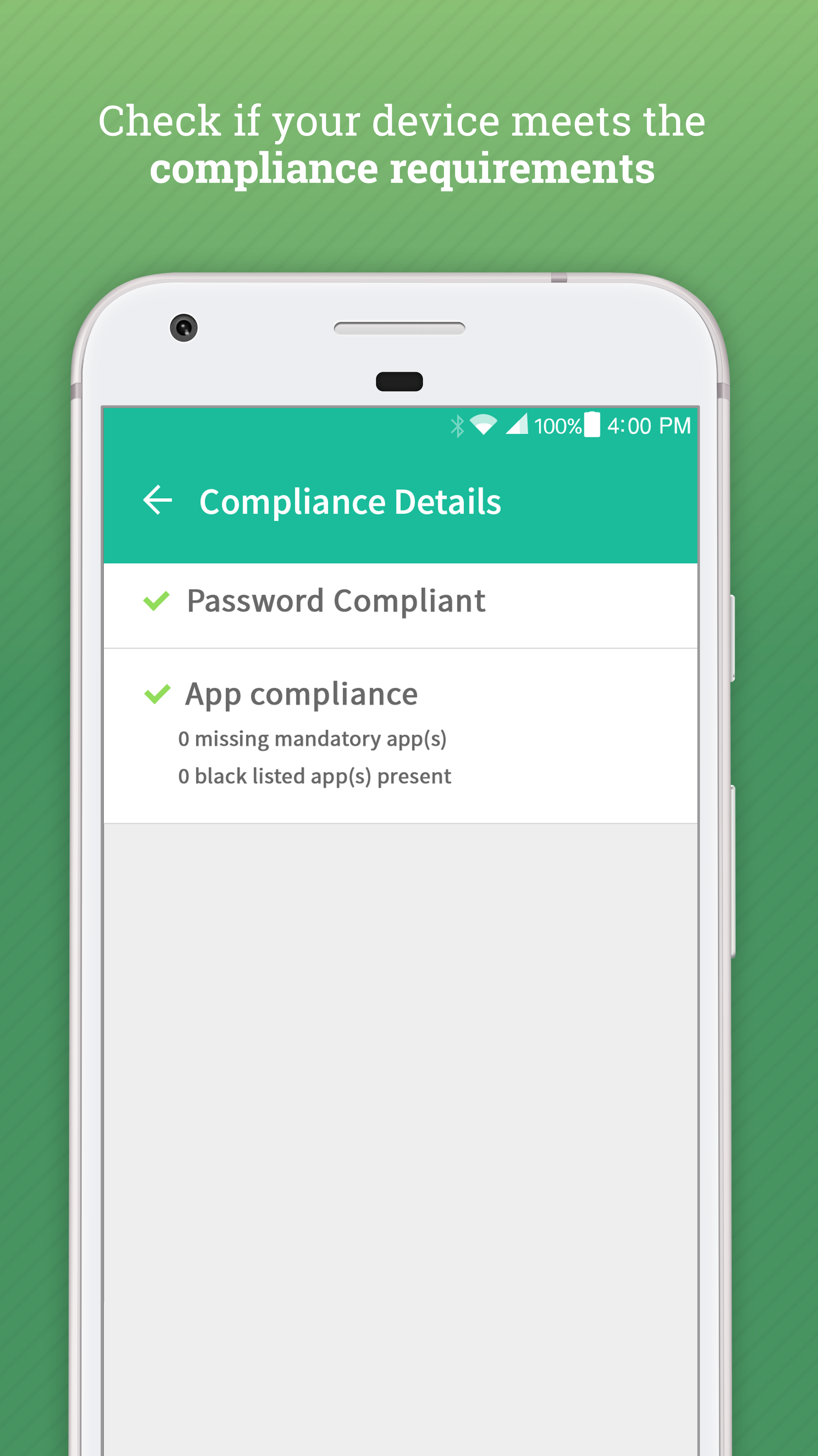 View Compliance Details in Hexnode MDM app