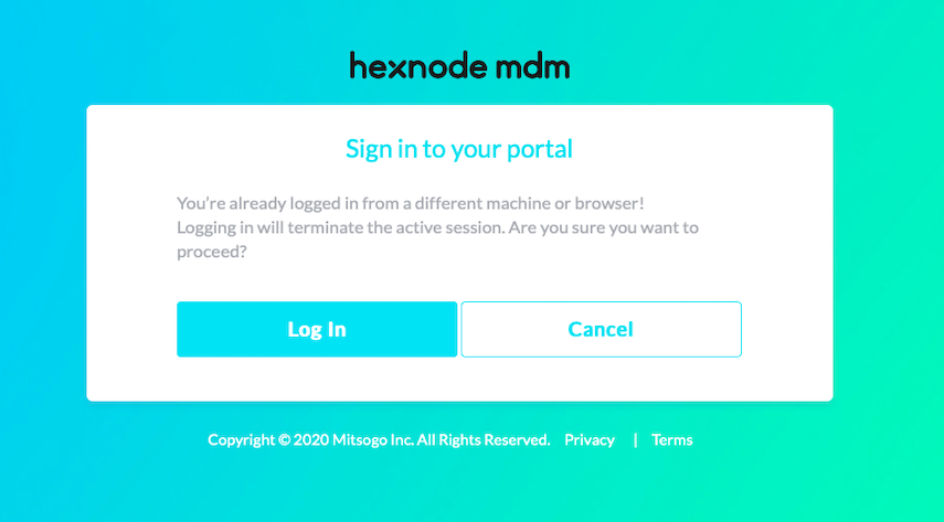 concurrent login for a single technician in hexnode