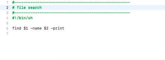 Script to find a file