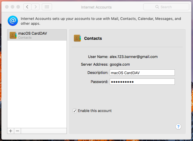 Set up CardDAV using Hexnode MDM