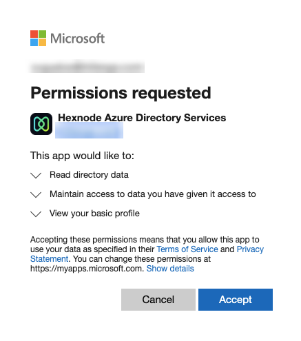 Microsoft Azure active directory integration using mdm
