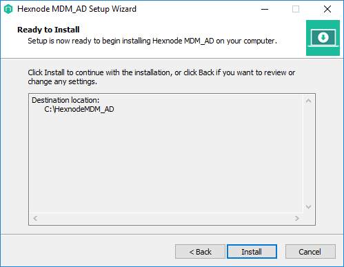 Install the Hexnode MDM AD on your system