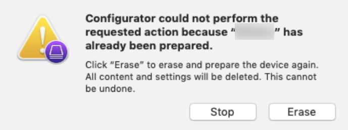 Enrollment error while preparing Apple TV via Apple Configurator