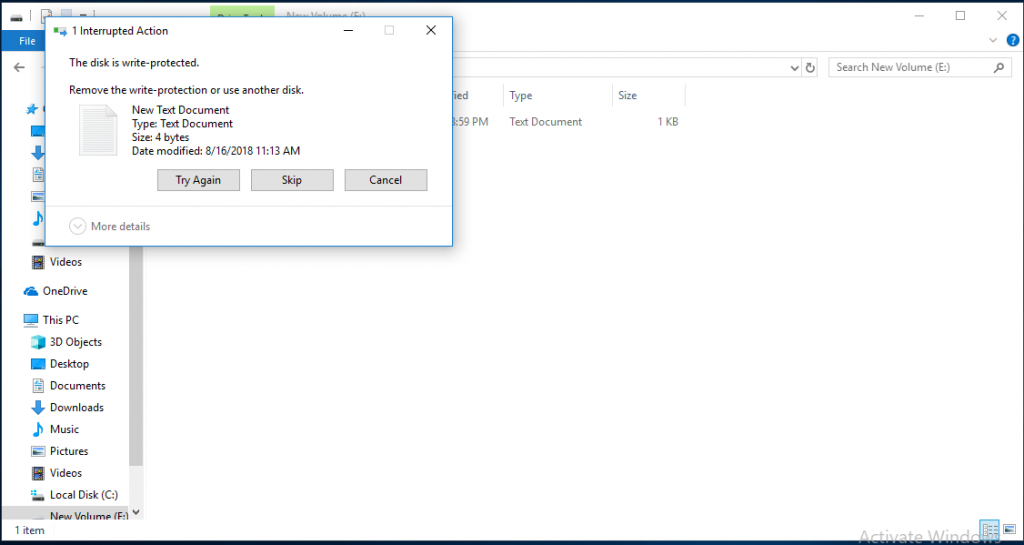block disk write on system and removable data drives
