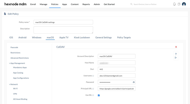 Set up CalDAV account on macOS devices