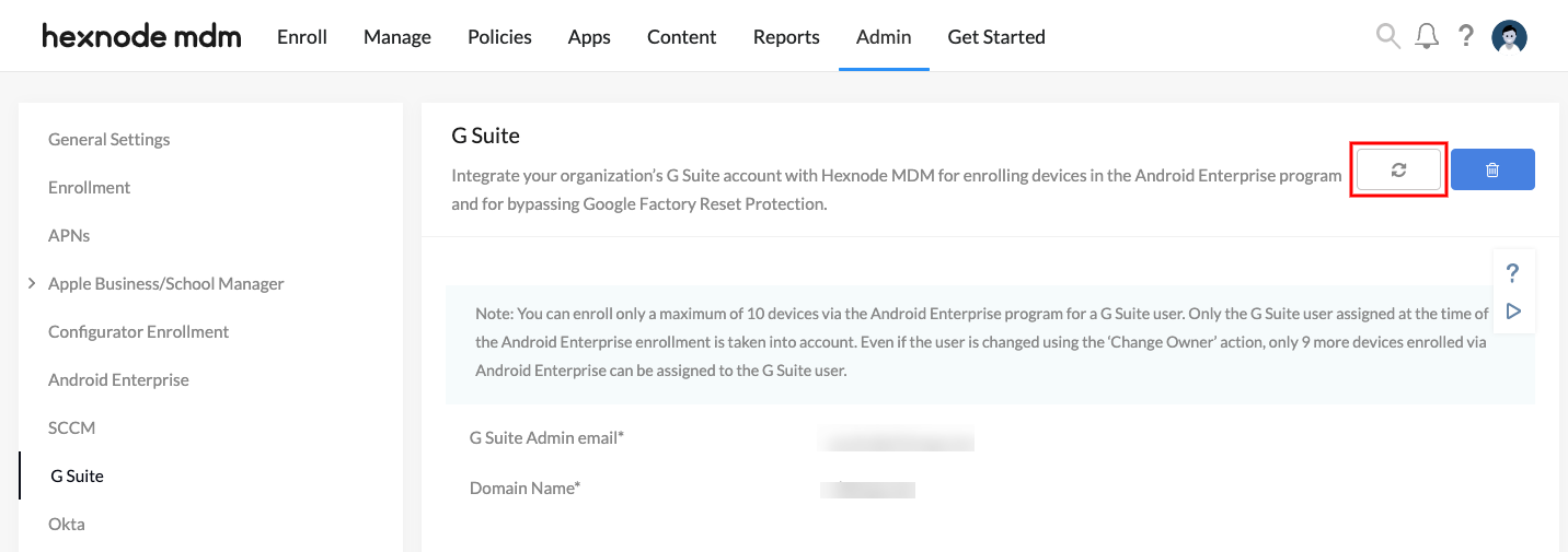 Sync G Suite user directory with Hexnode