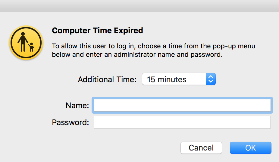 Settings to regulate User Login on Mac device using admin account