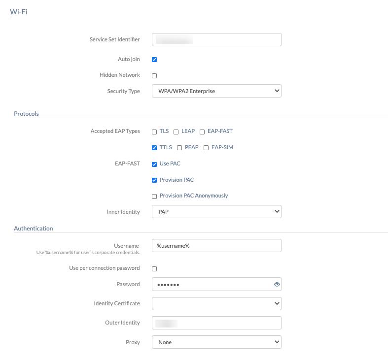 configure security settings for enterprise networks